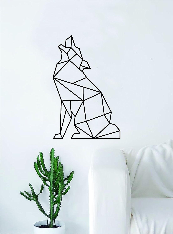 Tribal Style Wolf Animal Design Wall Sticker Art Bedroom Vinyl Decal d8