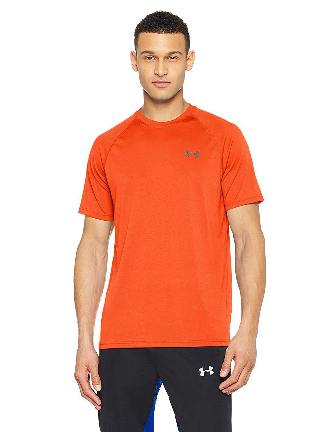 [アンダーアーマー] UA Tech SS Tee メンズ 1228539 B071F3X3Q4 Large|Magma Orange/Rhino Gray Magma Orange/Rhino Gray Large