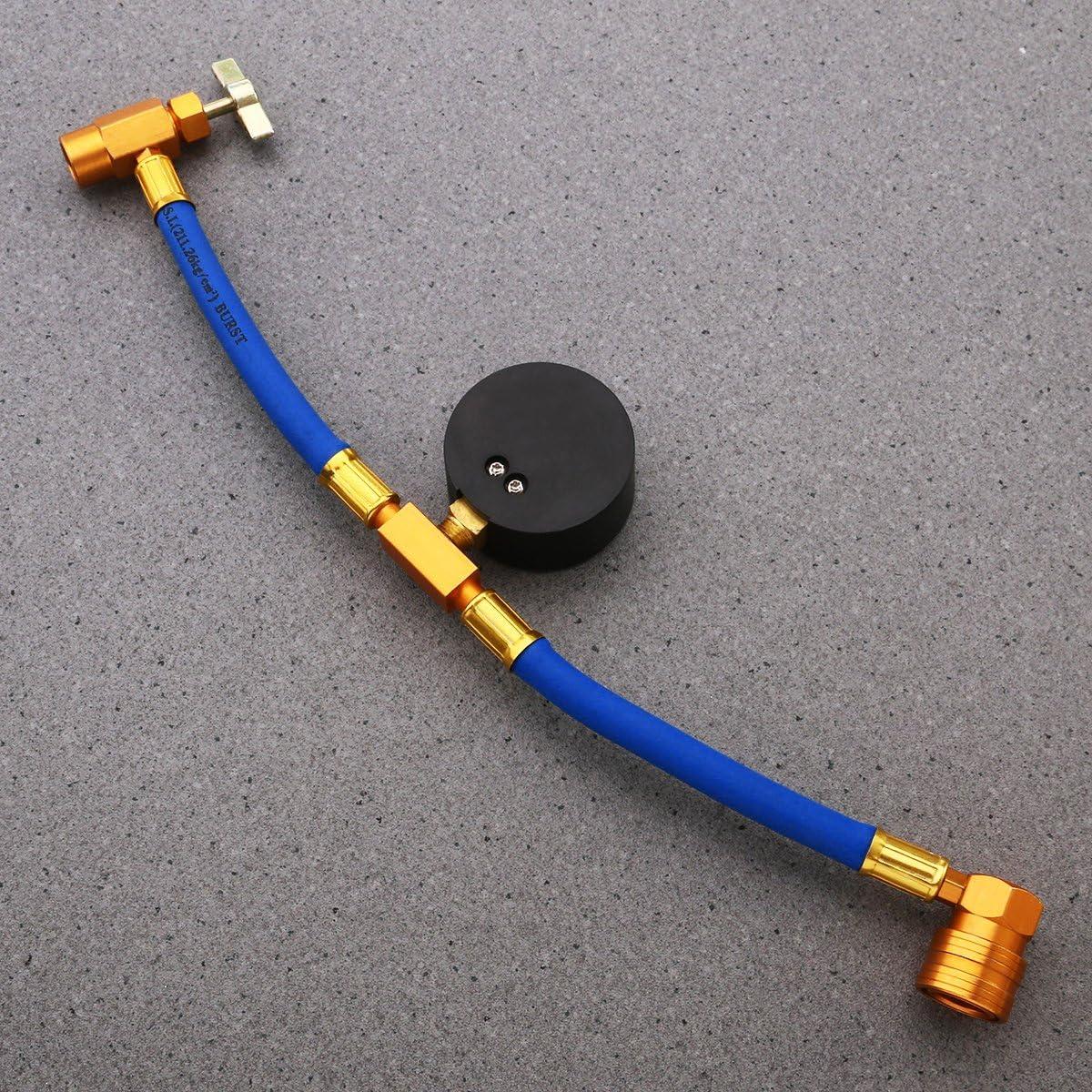 WINOMO R134/a condizionatore d aria refrigerante Tubo di riempimento con manometro per auto 1//2/filettatura per American e Europa