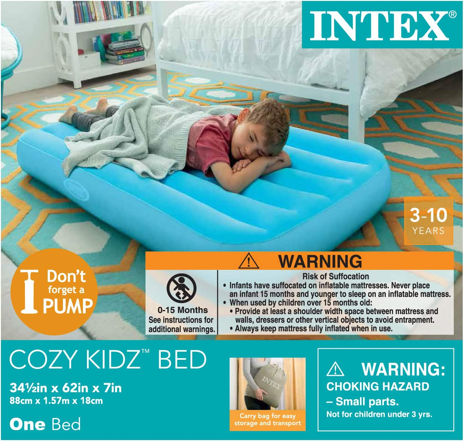 Amazon.com: Intex Cozy Kidz - Colchón hinchable, color puede ...