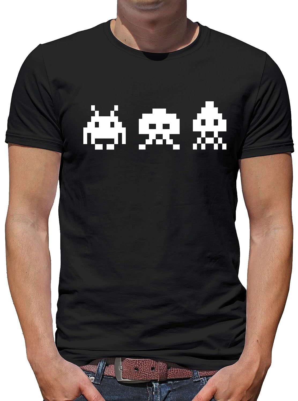 TLM Retro Arcade Invaders Camiseta para hombre T-Shirt: Amazon.es: Ropa y accesorios