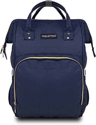 Robustrion Waterproof Diaper Bags for Mom for Travel Diaper Bag Backpack (Navy)