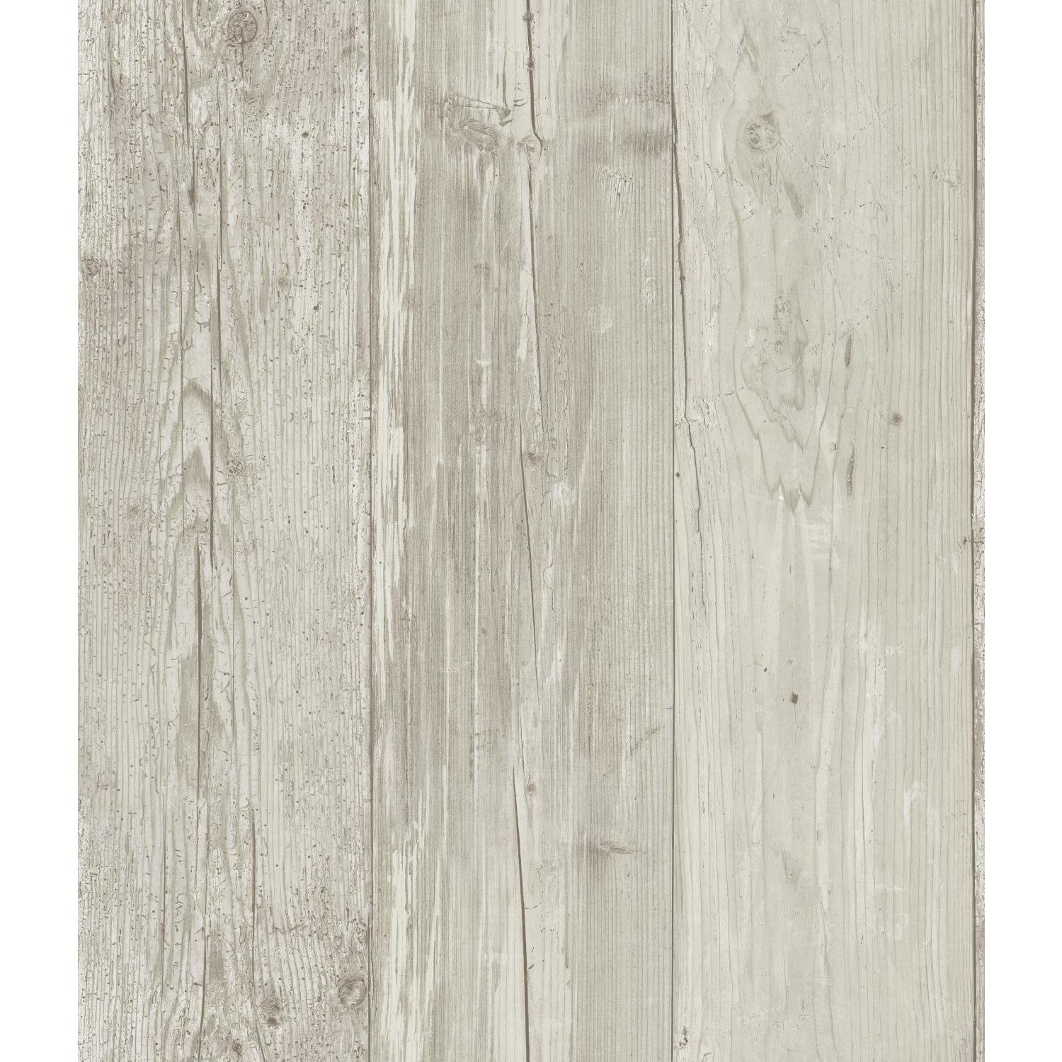 York Wallcoverings ZB3347 Wide Wooden Planks Wallpaper, Gray/Black/Off White