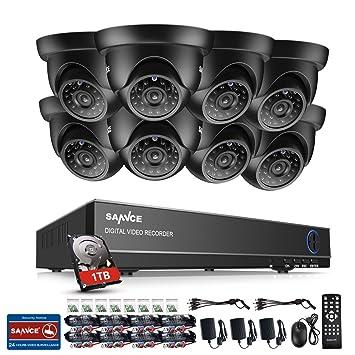 [Mejorado 720P HD] SANNCE Kit de 8 Cámaras de Vigilancia Seguridad (Onvif H