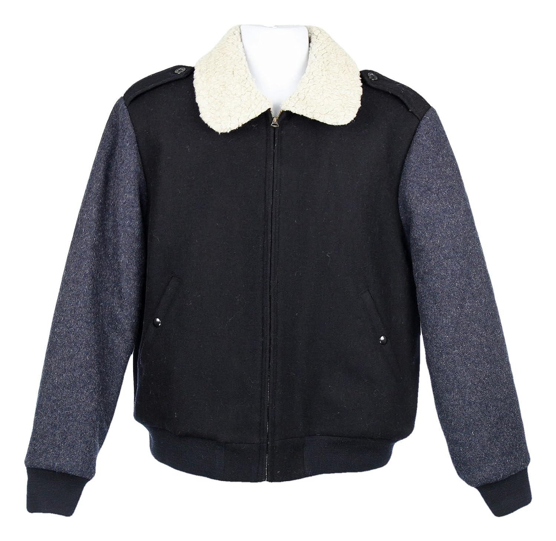 466fedc75 J Crew Wallace & Barnes Sherpa-Collar Contrast Wool Bomber Jacket S ...