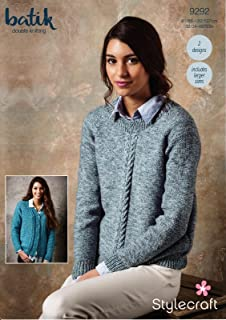 5ba4bd331 Stylecraft 9292 Knitting Pattern Womens Sweater and Cardigan in Stylecraft  Batik DK