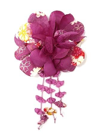 Amazon mykimono womens japanese kimono hair accessories mykimono womens japanese kimono hair accessories flower purple mightylinksfo