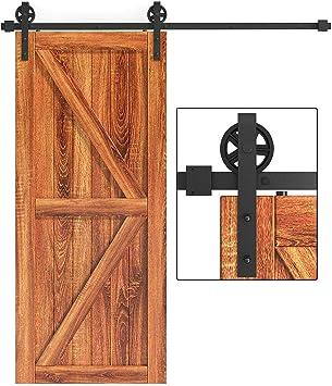 Kit de rieles para puerta corredera de granero de 6.6 pies: Amazon.es: Bricolaje y herramientas