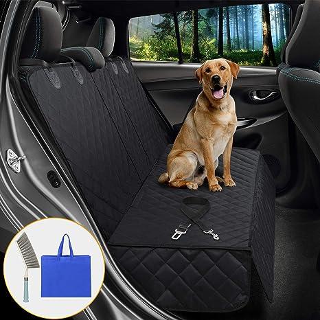 Satisby Autositzbezüge Für Hunde Dog Car Seat Cover Verschleißfester Sitzbezug Für Haustier Hunde Autoschondecke Wasserdicht Kratzfest Mit Reinigungsbürste Und Tragetasche Sicherheitsgurte Haustier