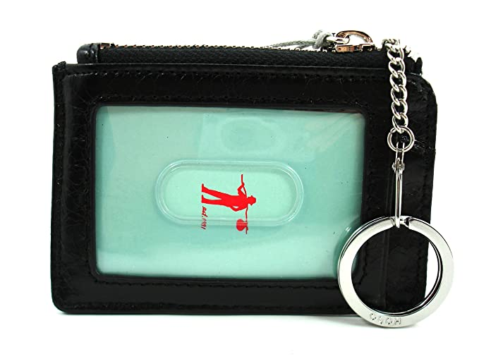 los angeles d0ea4 da822 Hobo Genuine Leather Kai Card Case Key Ring Black CX-32034BLK ...