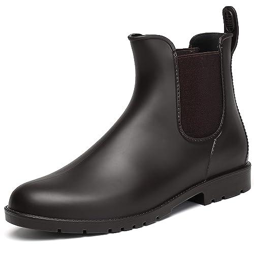 cheaper b52e9 086a8 SAGUARO® Damen Kurzschaft Stiefel Gummistiefel Gummistiefeletten  Regenstiefel Chelsea Boots