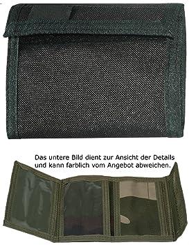 Monedero Billetera Cartera Velcro De Nylon Ejército Negro: Amazon.es: Deportes y aire libre