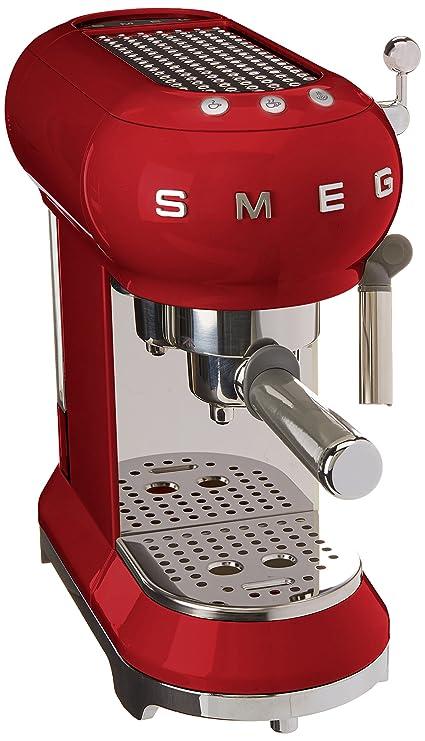 SMEG 146874 Máquina de café expreso ECF01RDEU, Rojo