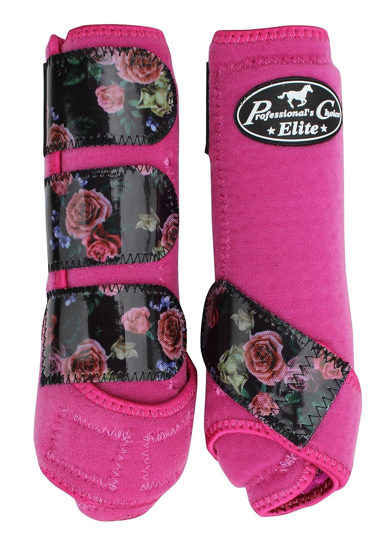 Professional's Choice Equine Sports Medicine Ventech Elite Leg Boot Value Pack, Set of 4 B01KJJV4JW Medium|Rose/Raspberry