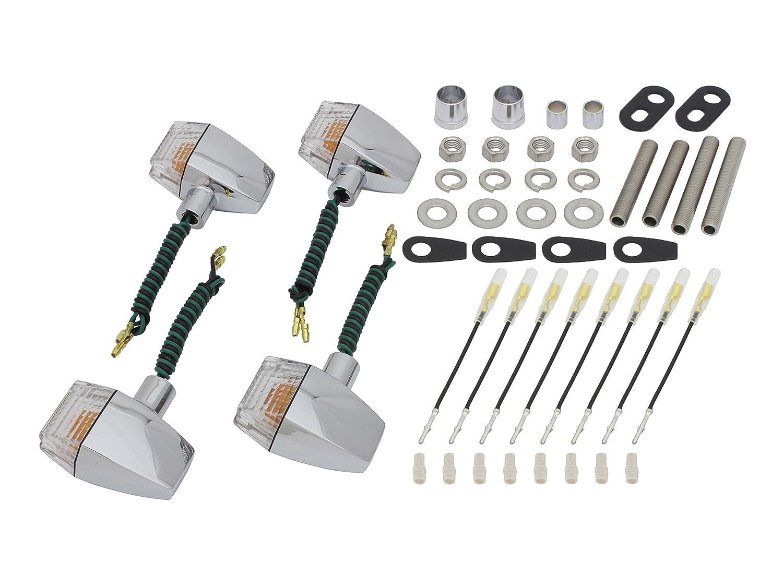ポッシュ(POSH) ウインカークラシカル スリム & シャープタイプ 車種専用セット GPZ900R A1~(シングル球仕様) メッキボディ/クリアーレンズ 038047-53 B005J3I4IS