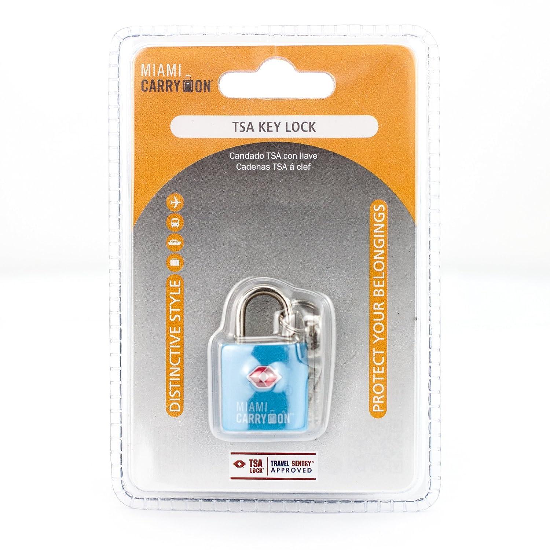 ddc9489e16b7 Amazon.com: TLL03LB Miami Carry-on TSA Locks - 1 Lock 2 Keys - Light ...