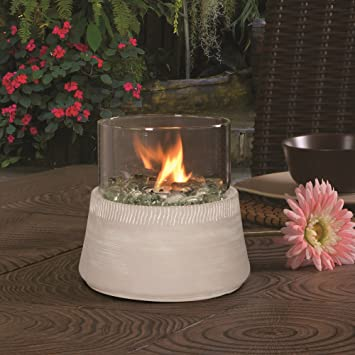 Bancroft Tabletop Fire Bowl U2014 White