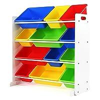 Tot Tutors Kids Toy Storage Organizer with 12 Plastic Bins