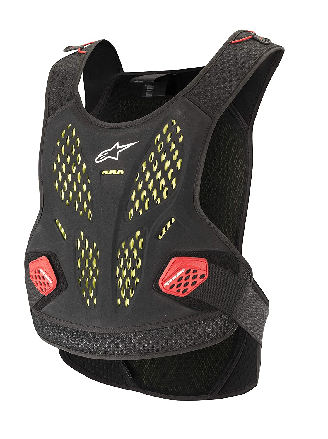 Sequence Off-Road Motocross Chest Protector (Extra Large/ 2 XL, Anthracite Red) Alpinestars 2701-0896