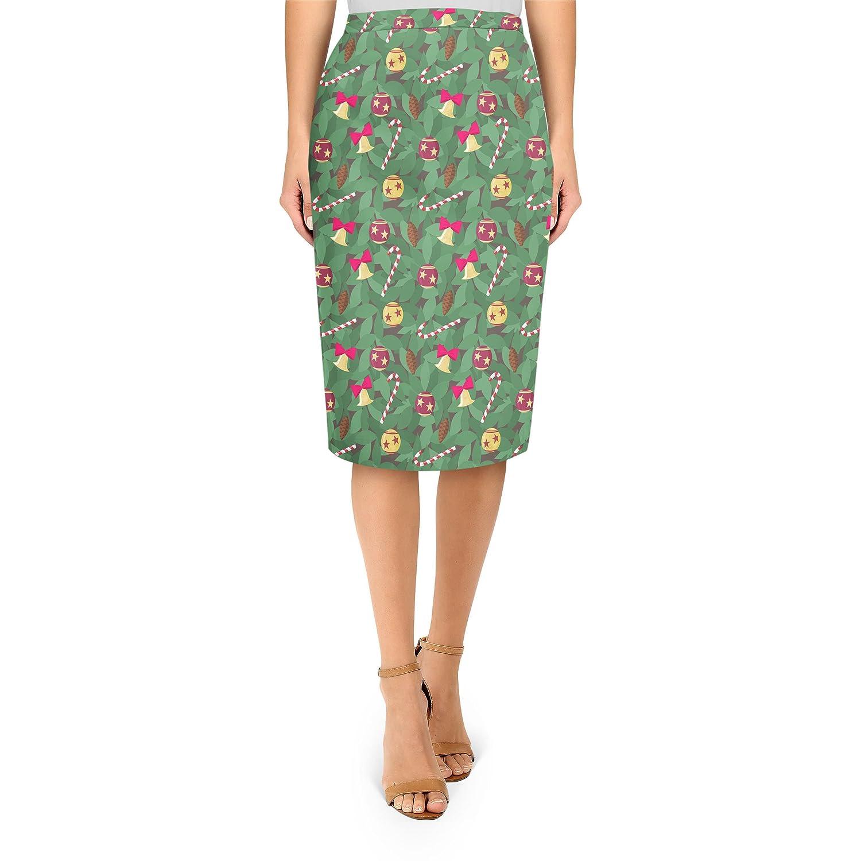 Christmas Tree Midi Pencil Skirt