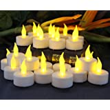 Amazon Price History for:Flameless Tea Light Candles by LED Lytes, 24 Amber Yellow Flickering Faux Tealights, Battery Operated Electric Lights, Fake Votive candle Tea Light for Weddings, Halloween Pumpkins and Parties