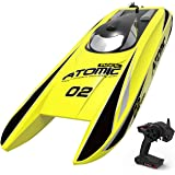 VOLANTEXRC Remote Control Boat RC Boat Atomic 28inch 40mph High Speed RC Watercraft Unibody Hull, Improved Waterproof Design in Lakes, Rivers for Kids or Adults, Boys or Girls (792-4 RTR Yellow)