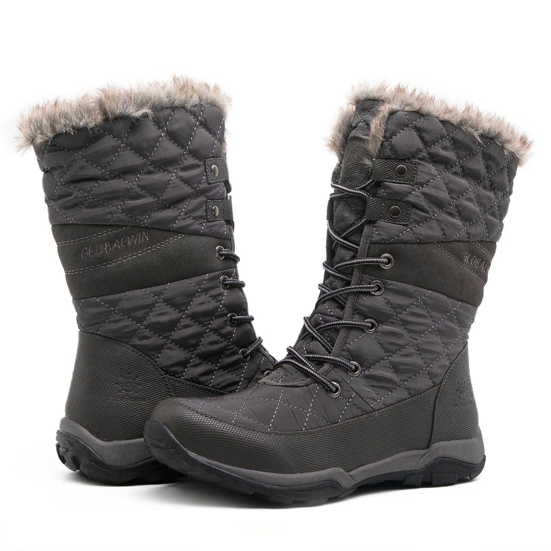 Globalwin Women's Fashion Snow Boots (8.5 D(M) US Women's, 05Grey)