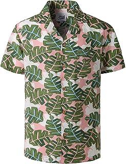 81fcb003e669c YuanDian Men Plus Size Hawaiian Short Sleeve Shirts Floral Patterned ...