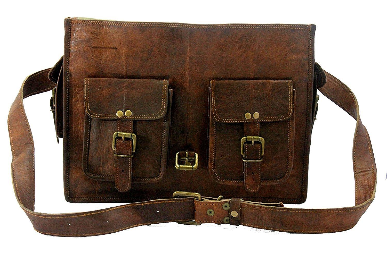 Handmade World Genuine Messenger Bag Leather Laptop Bags Computer Satchel Briefcase (18 Inch) by Handmade World (Image #5)