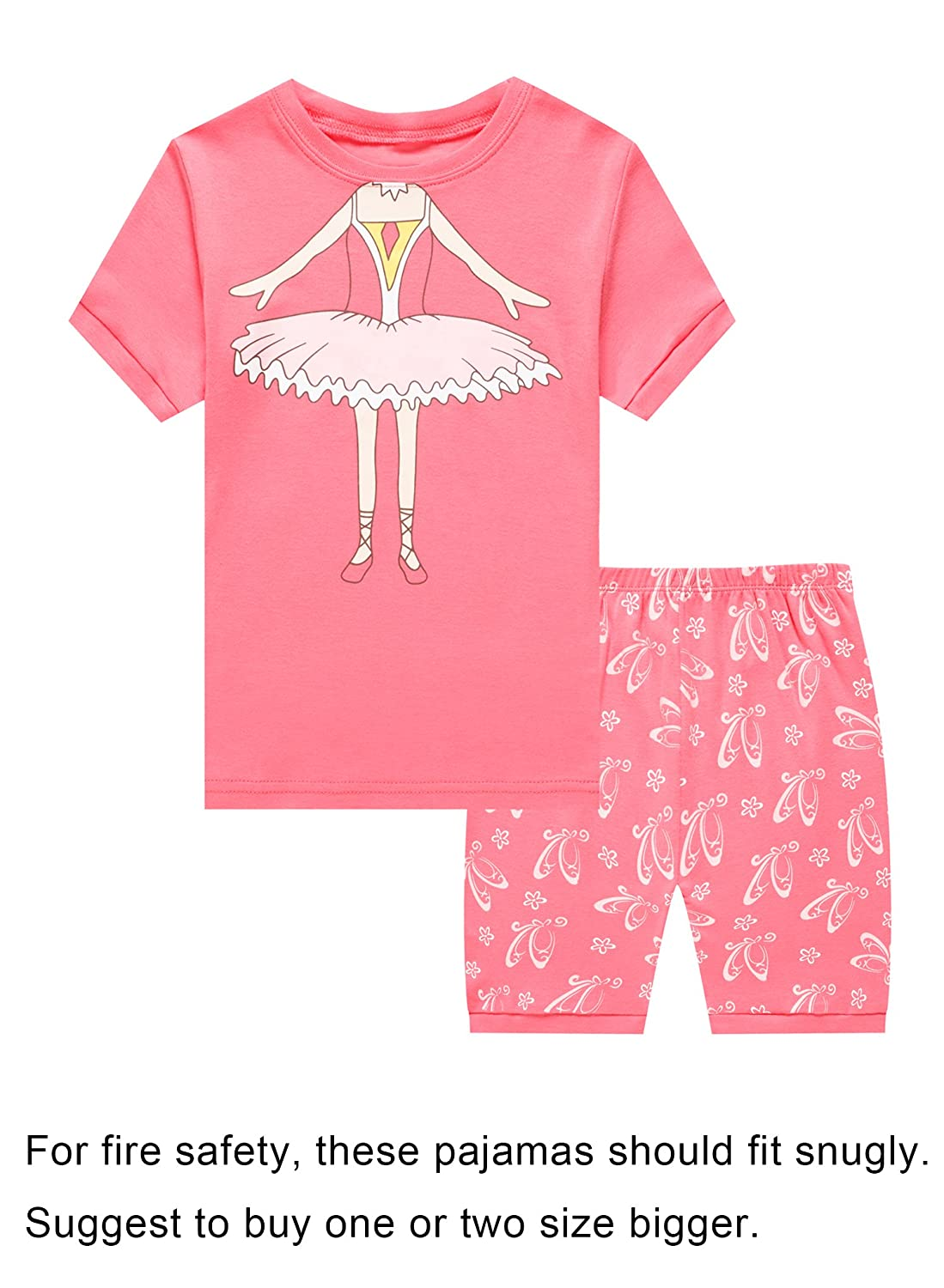Choco Moon Girls Pajamas Sets Shorts Sleepwears