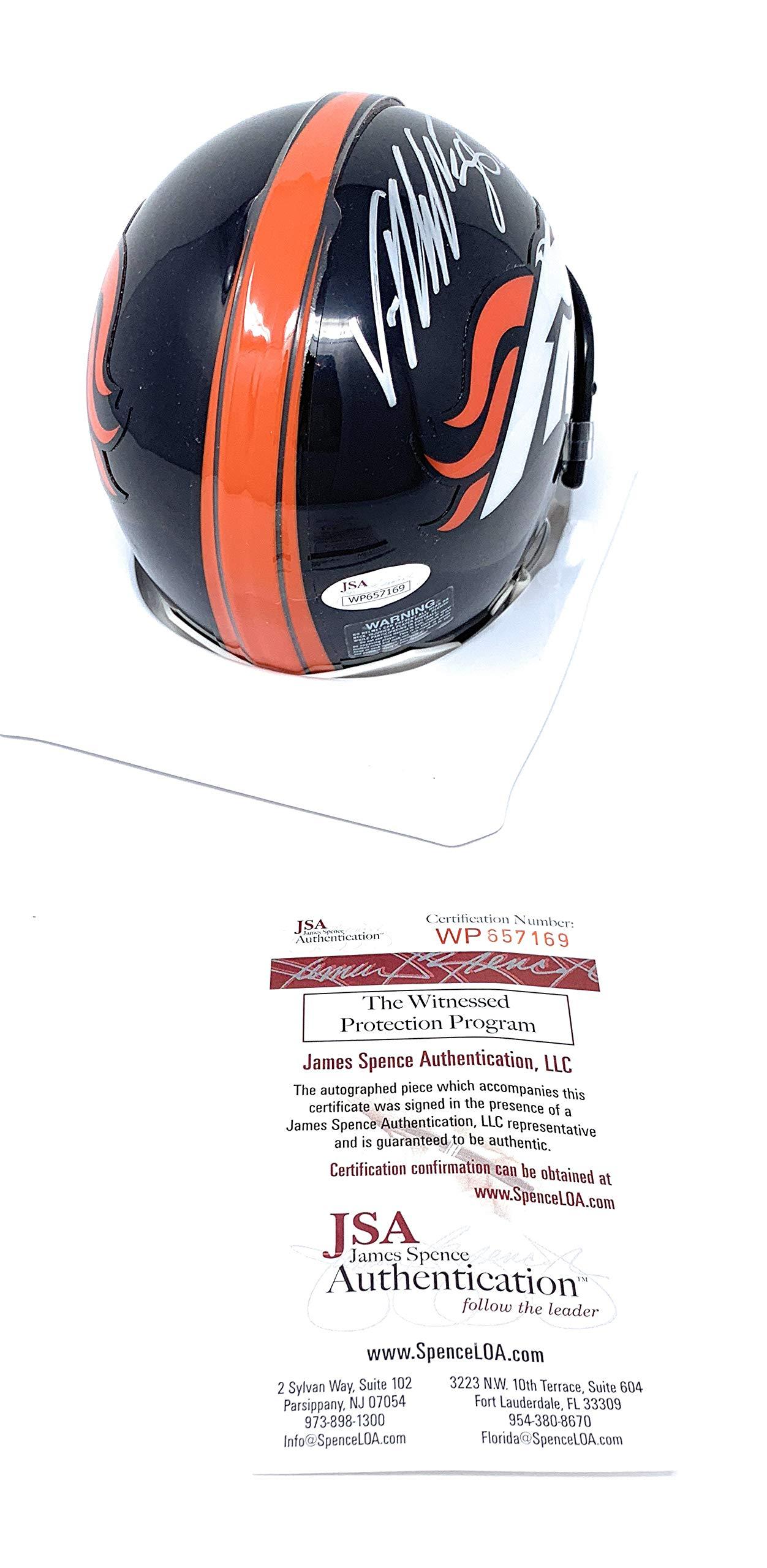Von Miller Denver Broncos Signed Autograph Mini Helmet SB 50 MVP INSCRIBED JSA Certified
