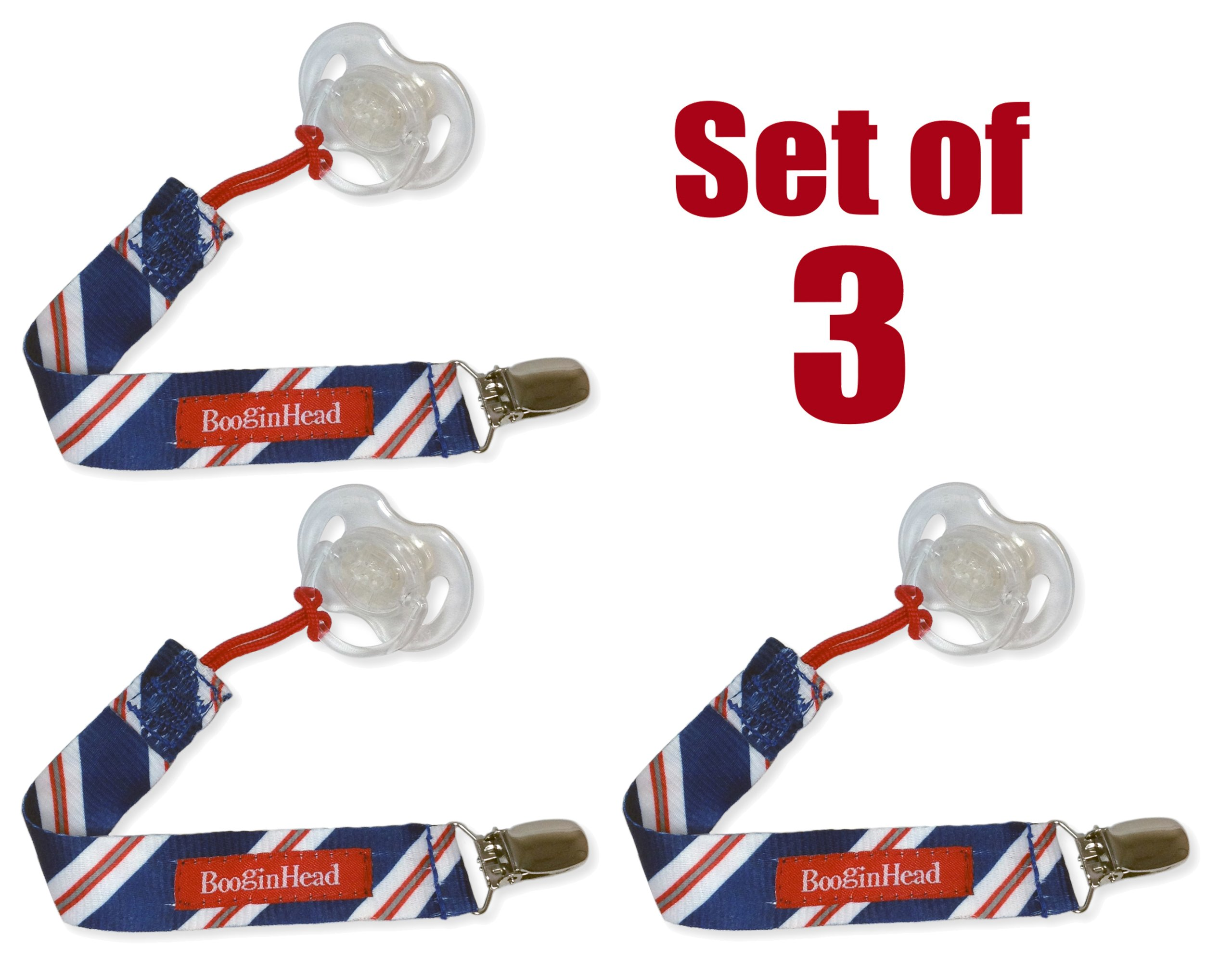 Set of 3 PaciGrip - Universal Pacifier Holder with Clip, that is compatible with all types of pacifiers by BooginHead