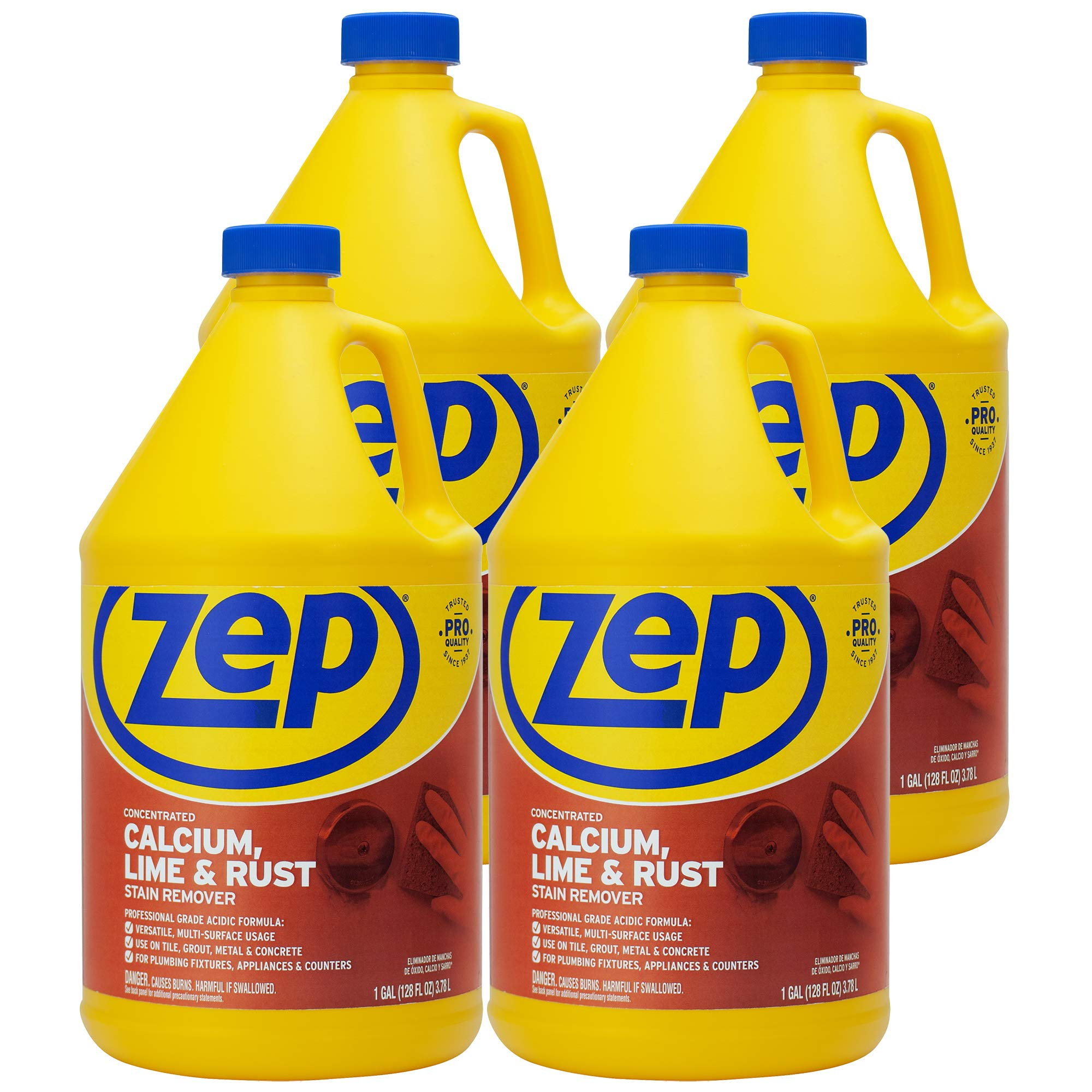 Zep Calcium, Lime and Rust Remover 128 ounce ZUCAL (Case of 4) by Zep