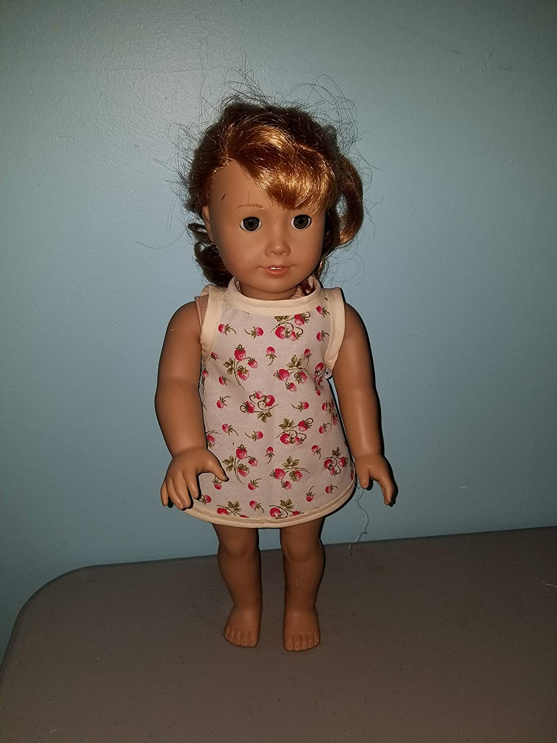 18 Doll Strawberry Strawberries Dress Retro fits American girl our generation my life