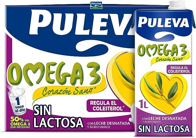 Puleva Omega 3 Leche Sin Lactosa - Pack 6 x 1Lt: Amazon.es: Alimentación y bebidas