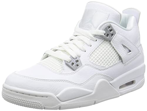 Nike BG (GS) Air Jordan 4 Retro 'Legend Blue' White/Legend