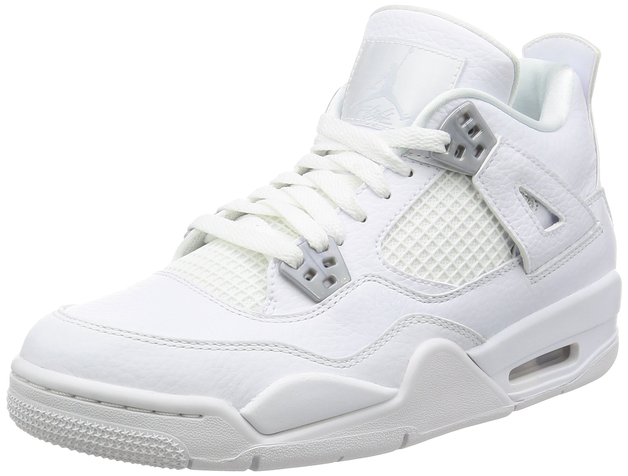 Jordan Retro 4'' Pure Money White/Metallic Silver (Big Kid) (7 M US Big Kid) by Jordan