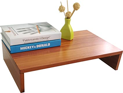 Evst support en bois pour ordinateur portable téléviseur