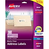 "Avery Clear Easy Peel Address Labels for Inkjet Printers 1"" x 2-5/8"", Pack of 750 (8660)"