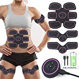 ABS Trainer Muscle Stimulator, Abdominal Exerciser Equipment Stomach Exerciser EMS Muscle Toner Electric ABS Toner AB Belt ABS Simulator, Abdomen/leg/arm Gym Equipment At Home Workout For Men & Women