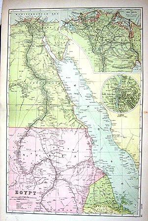 Karte ägypten Nil.Antikes Plan Kairo Nil Delta 1911 Karten Speck ägypten Roten Meers