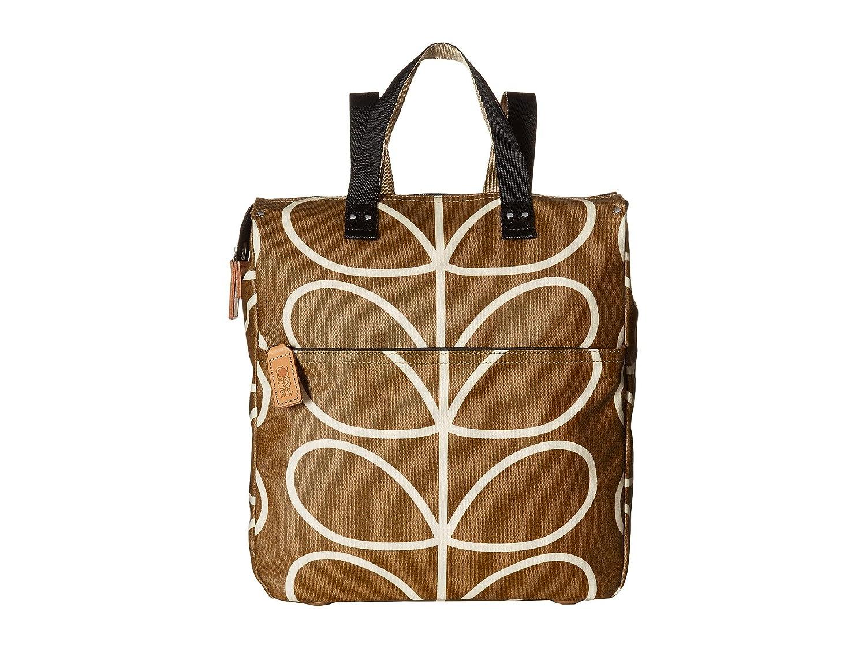 [オーラ カイリー] Orla Kiely レディース Matt Laminated Giant Linear Stem Print Backpack バックパック [並行輸入品]  Camel B01NA8S5SL