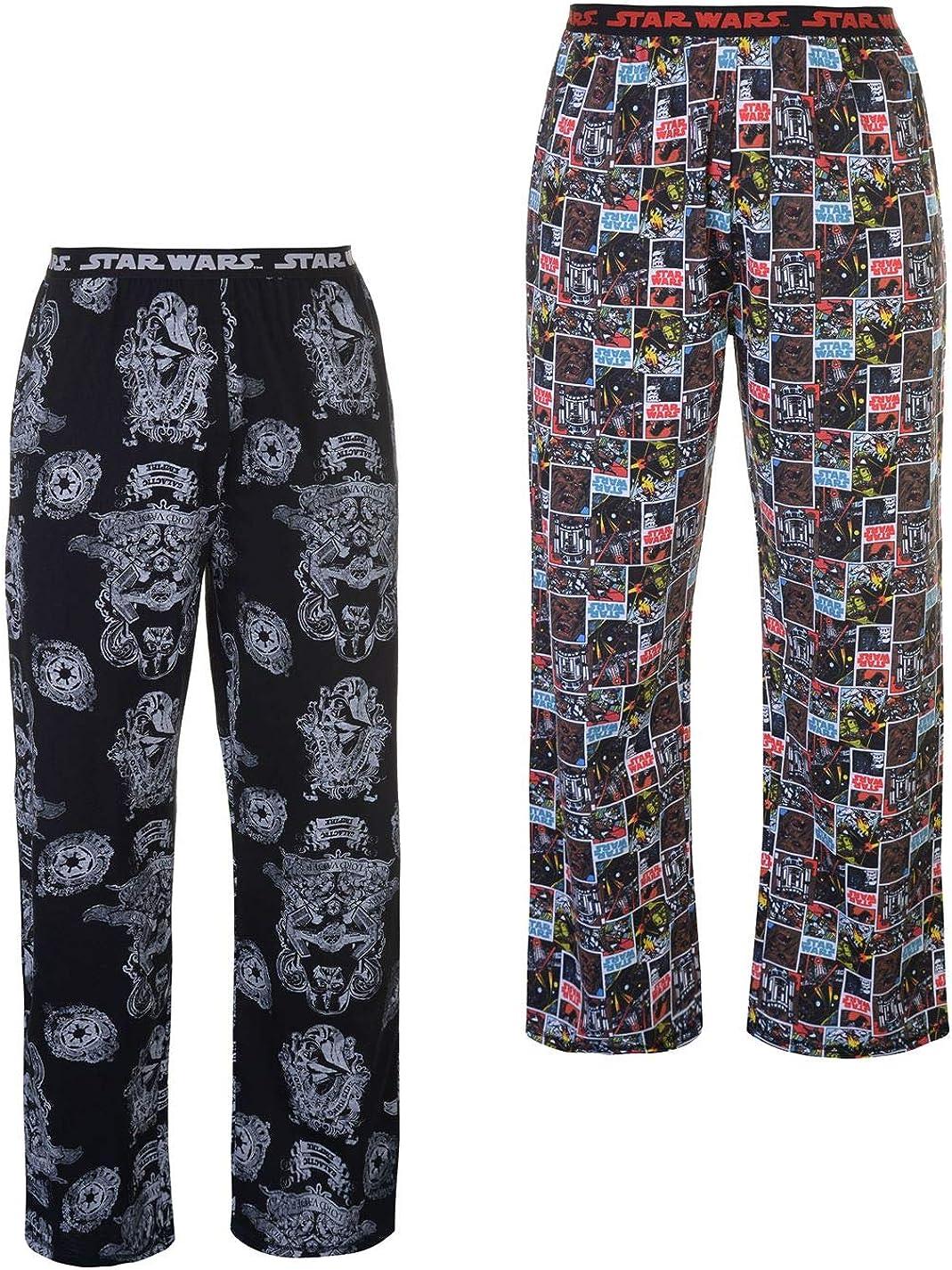 Star Wars, X-Large Mens 2 Pack Star Wars Lounge Pants Pyjamas Pj Bottoms Trousers Cartoon Adults Nightwear