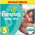 Pampers Baby Dry Windeln, Gr. 5 (11-23 kg), Monatsbox, 1er Pack (1 x 144 Stück)