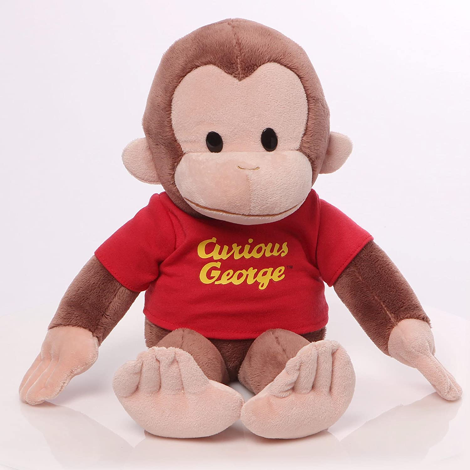 Amazon.com: GUND Curious George T-Shirt Stuffed Animal Plush, 36