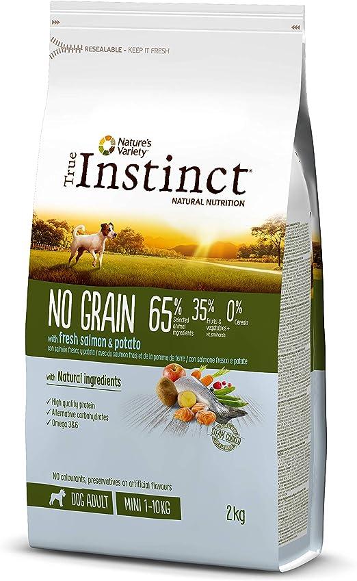 Oferta amazon: True Instinct No Grain - Pienso sin Cereales para Perros Adultos Mini con Salmón Fresco y Patata, 2kg