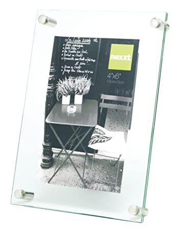 nexxt air floating glass picture frame 4 by 6 inch