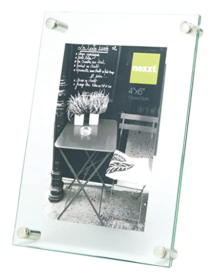 Amazon.com: nexxt Air Floating Glass Picture Frame, 4 by 6-Inch ...