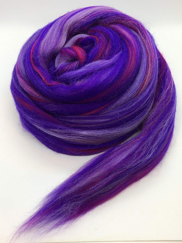 Shep's Wild Berry Merino Wool Top Roving Fiber Spinning, Felting Crafts USA (1lb) Shep' s Wool 4336906872