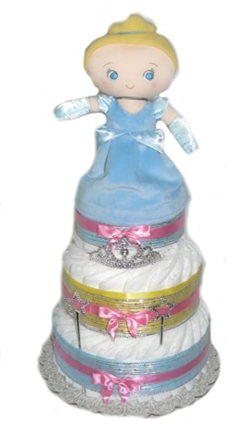 Amazon Disney Princess Baby Shower Diaper Cake Cinderella